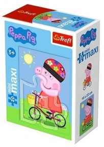 Пазл Свинка Пеппа на велосипеде 20 эл макси