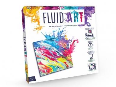 Флюид-арт Интерьерная картина своими руками Свежая яркость