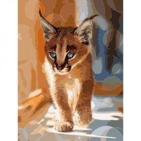 Картина по номерам Маленький каракал фото Sergey Polyushko 40 х 50 см КНО4165 Идейка