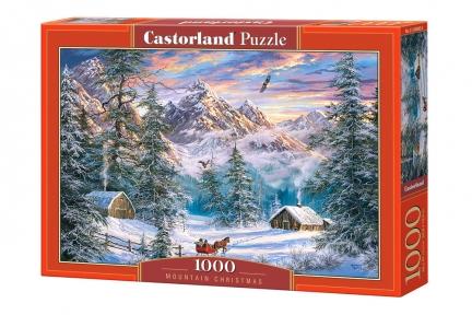Пазл Рождество в горах 1000 эл
