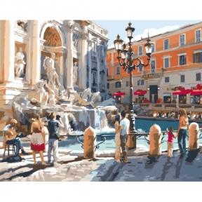 Картина по номерам Европейские каникулы 40 х 50 см КНО2152 Идейка