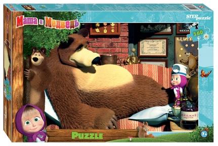 Пазл Маша и медведь Лечение 360 эл Step Puzzle