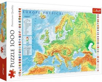 Пазл Физическая карта Европы 1000 эл