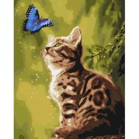 Картина по номерам Загадочная бабочкаКНО4150 Идейка