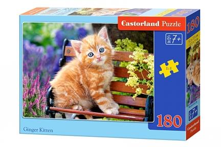 Пазл Рыжий котенок на скамье 180 эл