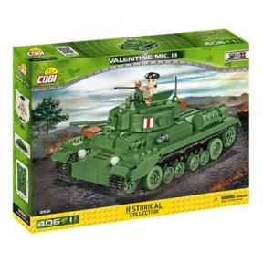 Конструктор COBI Пехотный танк Валентайн, 406 деталей