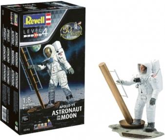Сборная модель-копия Revell набор Астронавт на Луне. Миссия Аполлон 11 уровень 4 масштаб 1:8