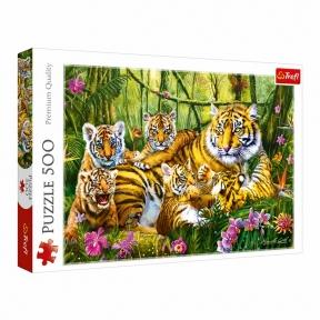 Пазл Семья тигров 500 эл