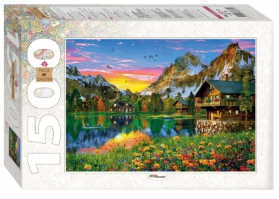 Пазл Озеро в Альпах 1500 эл Step Puzzle