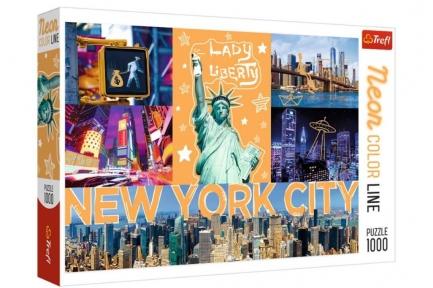 Пазл Неоновый город Нью Йорк серия Neon Color Line 1000 эл