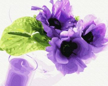 Картина по номерам Фиалковый аромат 40 х 50 см Brushme