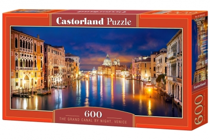 Пазл Ночной Гранд канал Венеция 600 эл панорамный