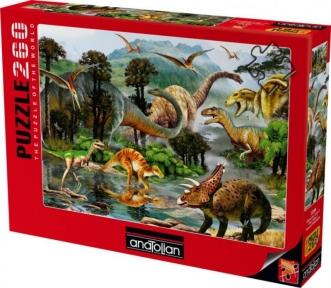 Пазл Жизнь динозавров 260 эл Anatolian