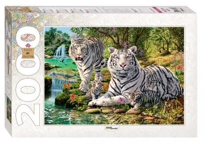 Пазл Сколько тигров 2000 эл