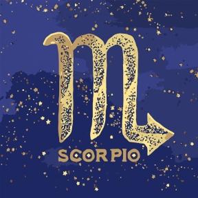 Картина по номерам Знак зодиака Скорпион с краской металлик 50 х 50 см Идейка КН9513