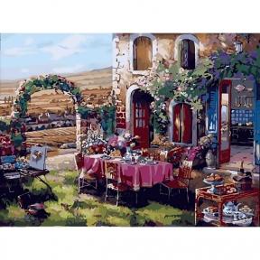 Картина по номерам Жизнь в Провансе 40 х 50 см КНО2245 Идейка