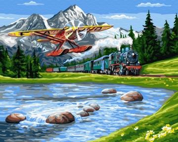 Картина по номерам Путешествие в горы 50 х 40 см Brushme