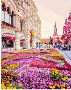 Картина по номерам Розовая клумба 40 х 50 см Brushme
