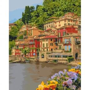 Картины по номерам Набережная Италии 40 х 50 см КНО2259 Идейка