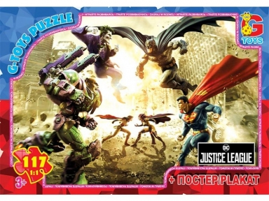 Пазл Лига справедливости Супермен и другие герои 117 эл