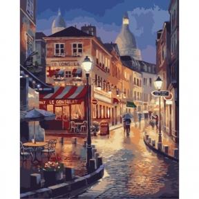 Картины по номерам Прогулка по вечернему Парижу 40 х 50 см КНО2116 Идейка