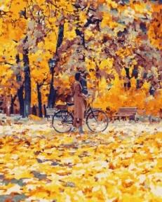 Картина по номерам Золотые листья 40 х 50 см Brushme