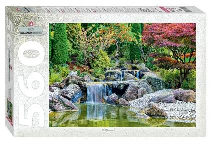 Пазл Каскадный водопад в японском саду 560 эл