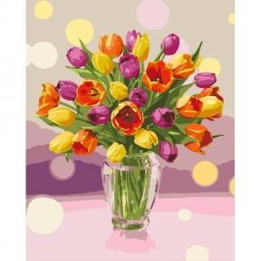 Картина по номерам Солнечные тюльпаны 40 х 50 см КНО3064 Идейка
