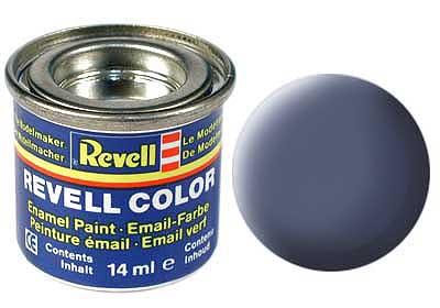 Краска для моделей эмалевая Revell № 57 Серая матовая 14 мл