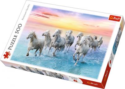 Пазл Белые кони в галопе 500 эл