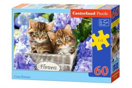 Пазл Котята цветочки 60 эл