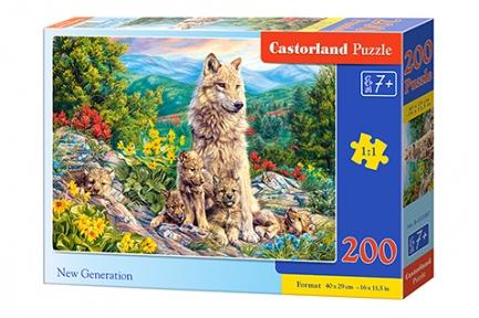 Пазл Волчица с волчатами 200 эл