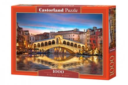Пазл Ночной мост Риальто в Венеции 1000 эл