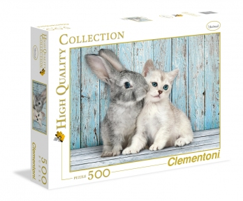 Пазл Котенок и кролик 500 эл