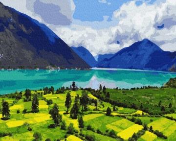 Картина по номерам Горный пейзаж 40 х 50 см Brushme
