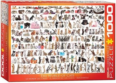 Пазл Eurographics Мир кошек, 1000 эл 6000-0580