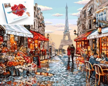 Картина по номерам Цветочный магазин Парижа 40 х 50 см Danko