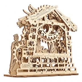 3D Пазлы Механическая модель Рождественский вертеп 59 дет Ugears