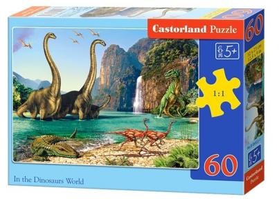 Пазл В мире динозавров 60 эл