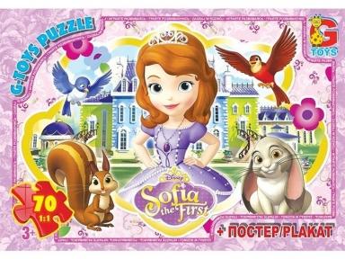 Пазл Принцесса София и питомцы 70 эл