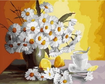 Картина по номерам Ромашки и лимоны 40 х 50 см Brushme