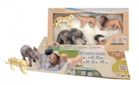 Обучающий игровой набор с QR-картой, Животные Африки 2, Wenno