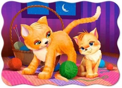 Пазл Кошка с котенком 30 эл макси