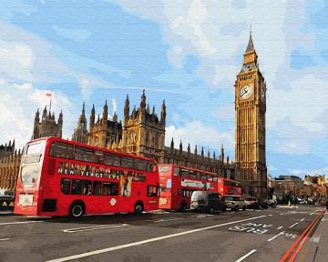 Картина по номерам Магия Лондона 40 х 50 см Brushme