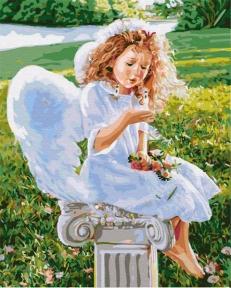 Картина по номерам Маленький ангел 50 х 40 см Brushme