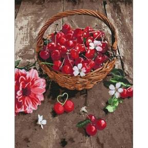 Картина по номерам Вишневая радость 40 х 50 см КНО5597 Идейка