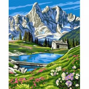 Картина по номерам Швейцарские Альпы 50 х 40 см Brushme