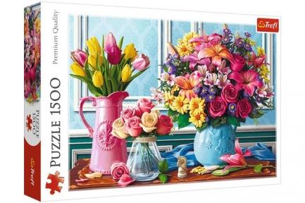 Пазл Цветы в вазах 1500 эл