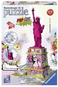 Пазл 3D Ravensburger Статуя Свободы в стиле поп-арт 108 эл