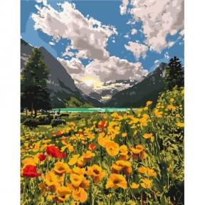 Картины по номерам Величественные Альпы 40 х 50 см КНО2268 Идейка